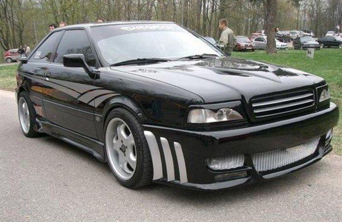 Тюнинг Audi 80 чёрная