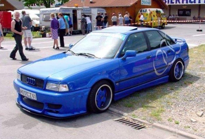 Тюнинг Audi 80 синея